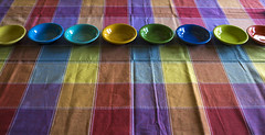 table cloth colors-028 (swardraws) Tags: colorful dish bowl fiestaware