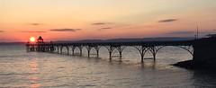 Sunset - Clevedon Pier - Approaching High Tide (Clevedon Pier) Tags: sunset clevedon clevedonpier