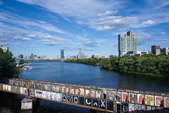Stand on the Boston university bridge and overlook the Charles River. (kingta7260) Tags: bridge boston railway bostonuniversity bostonuniversitybridge