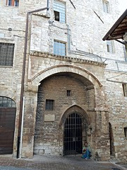 Chapel of San Francesco Piccolino (about 1250), formerly cowshed, where would bear Saint Francis, at Assisi (* Karl *) Tags: italy church chapel assisi umbria saintfrancis