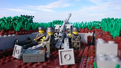 "leFH 18M ""in position and ready to fire"" (Richard_LEGOherz) Tags: army lego wwii scene german artillery 18m lefh"