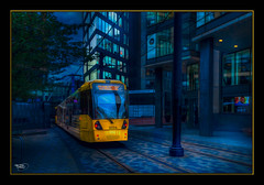 Coming Through! (Kevin From Manchester) Tags: building architecture train manchester transport tracks trains lancashire railwaystation metrolink trams citycentre hdr piccadillystation canon1855mm railwaylines plantform kevinwalker canon1100d