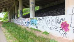 Along the Glacial Drumlin Trail (sfrikken) Tags: glacial drumlin trail path bicycle bike wisconsin graffiti waukesha underpass bridge