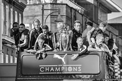 The Leicester City Football Club Victory Parade (16th May 2016) (James.Brown.Photography) Tags: city bw brown white black bus club photography james football open top leicester may victory parade trophy 16th premier foxes league 2016
