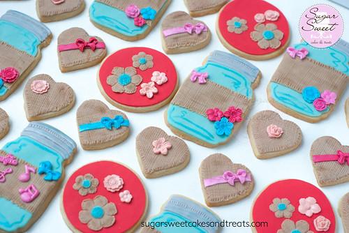 Mason Jar Shabby Chic Cookies