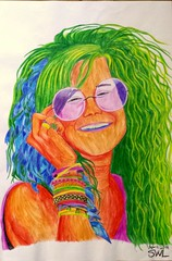 Janis Joplin Portrait (Sarah Winther Lagersted) Tags: portrait musician art creativity artist drawing picture colorpencil janisjoplin colorpencils musicart colorportrait beingcreative colourdrawing musicianart musicianartist swlart janisjoplinportrait