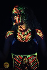 UV Warrior (Dragon's Eye Images) Tags: uv bodypaint blacklight