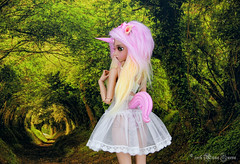 Pink Unicorn Set for MSD (AnnaZu) Tags: pink animal order tail tan part fantasy bjd horn etsy unicorn commission fairyland msd rheia inifee annaku vesnushkahandmade annazu