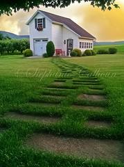 JAndy's Shed (Stephanie Calhoun Photography) Tags: yard shed walkway steppingstones nippenosevalley stephaniecalhoun