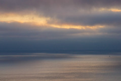 Escaping Infinity (kirstenscamera) Tags: ocean california ca sunset sky seascape color beach nature water clouds outdoors fire coast boat nikon sailing cloudy lajolla pacificocean coastal shore aftersunset 2016 saliboat seaescape