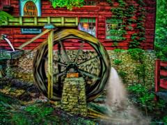 Big wheels keep on turning. . . (boriches) Tags: mill water missouri branson ozarks