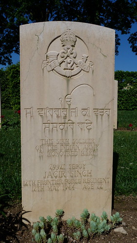 Monte Cassino - the Commonwealth War Cemetery, Sikh soldier