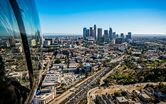 20160721 DTLA Aerial -17 (Tony Castle) Tags: aerial photography helicopter heli canon 5diii sony a7rii mirrorless sigma mc11 converter sky city la dtla los angeles traffic
