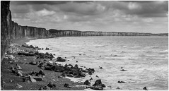 Normandy Coast, France (CvK Photography) Tags: blackwhite autumn bw canon coast cvk europe fall france holiday monochrome nature picardie seascape sottevillesurmer hautenormandie frankrijk fr