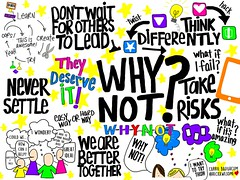 """Why Not"" Sketchnote (Carrie_Baughcum) Tags: sketchnote why not education kids deserve it future ready thinking"