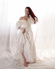 Kajira_8443 (Embodyment) Tags: female model modelmayhem dress studio kajira kajirabound striptease weddingdress