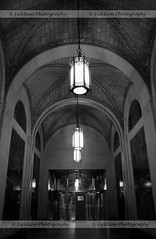Dramatic Lighting (ficktionphotography) Tags: architecture ceilings hallways lighting newyorkcity oldbuildings passages archedceilings