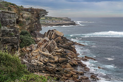 Rocks near Gordon's Bay (adventurousness) Tags: bonditocoogee gordonsbay newsouthwales pacificocean australia cliff coast nsw ocean pacific rocks sydney travel traveling beach