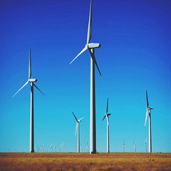 271 | 366 | V {explore} (Randomographer) Tags: project366 wind turbine device kinetic energy electrical power huge large fan blades blue sky landscape tower big 271 366 v tall domestic supply farm colorado green project lamar light ge turbines blow explore