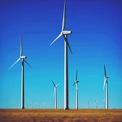271 | 366 | V {explore} (Randomographer) Tags: project366 wind turbine device kinetic energy electrical power huge large fan blades blue sky landscape tower big 271 366 v tall domestic supply farm colorado green project lamar light ge turbines blow explore