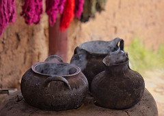 steaming pots (sussexscorpio) Tags: pots steam peru southamerica colours wool water vapour outdoor smoke