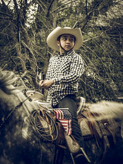 (abso847) Tags: horse fourth july parade cowboy hat motion