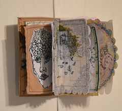 the end of the first week n October panel#7 (Danny W. Mansmith) Tags: 7of10 vision2020 burienarts fundraiser dannymansmith handmade artistbook drawing sewing mixedmedia burienwashington oneofakind originalart