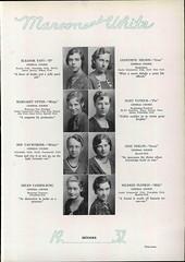 Yearbook Quotes (Namey McNamerson) Tags: iris 1932 mary patrick nelson helen margaret van eleanor taft phelps genevieve burg vanderburg upton mildred vander buskirk ione plotkin vanderburgh