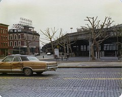 Wandering around the Lower West Side on a gray day. The old West Side Highway looms over a neighborhood of cobblestones and battered 1970s cars at 23rd Street. New York. 1975 (wavz13) Tags: urban vintagecar chelsea gloomy grain rainy newyorkskyline oldphoto manhattanskyline oldphotographs grainy oldcar oldphotos oldcars oldnewyork vintagecars instamatic vintagephotos chelseapiers vintagephoto oldphotography fordgalaxie 110film newyorkskyscrapers oldfords vintagephotography collectablecars collectiblecars 1970sphotos oldchelsea pocketinstamatic 1970sphoto 1970scars 1970scar oldmanhattan vintagefords 1970sphotographs vintagemanhattan 1970sphotography 1970snewyork 1970smanhattan newyorkskyscapers vintagechelsea