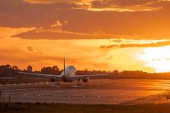 Fuego en el cielo (alimoche67) Tags: barcelona espaa sony alpha aeropuerto catalua slt avion aterrizaje elpratdellobregat translucentmirror josejurado 77ii