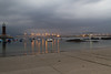 Praia do Cocho (dfvergara) Tags: españa praia faro luces noche mar agua playa arena galicia cielo nubes barcas ria vigo rocas reflejos cocho largaexposicion riadevigo museodelmar alcabre praiadococho