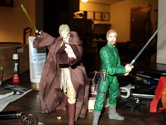 My custom Jedi Masters (ToyPhotos) Tags: 6 black toy star inch action luke grand security master figure jedi series obi lightsaber wars horn custom wan legacy hasbro skywalker bespin obiwan kenobi rots corran corsec correllian