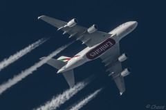 A6-EDF Emirates Airbus A380-861 (Chaosmagnet) Tags: aviation emirates a380 flugzeug berflieger reiseflughhe pentaxk3