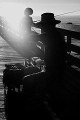 Untitled (ajkpix) Tags: california street people blackandwhite bw beach zeiss 50mm pier blackwhite fishing sony sanclemente blackwhitephotos scattidistrada ilce7