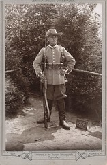Crisp outdours picture of a Kaiserliche Schtztruppe NCO (Paranoid_Womb) Tags: soldier army war postcard wwi ak german weapon imperial soldiers ww1 1914 1915 greatwar 1917 1918 1916 weltkrieg