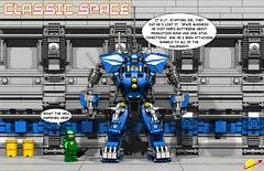 Classic Space Exo-Suit - LX-1 - Hanger Comic 002 (IK) Tags: classic lego space suit armor hanger mech ldd exo blacktron exosuit