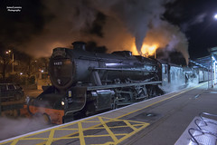 44871 and 45407 at Guildford (70C Photography) Tags: cold london night bristol fire december br trains victoria surrey steam guildford railways midland stainer 2014 lms blackfive railtours 45407 cathedralsexpress 44871