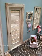 Blue Christmas (*Joyful Girl  Gypsy Heart *) Tags: christmas pink blue room chic 112 diorama dollhouse shabby roombox joyfulgirlgypsyheart