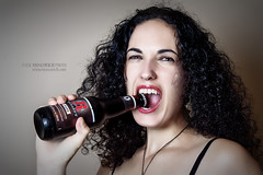 There's nothing better than a dark beer, and a beautiful girl. (Isaac M. (Halifax)) Tags: woman beer girl beautiful beauty model glamour maya