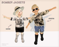 Bomber Jackets for Once Upon A Child (LOTUS. & Ugly Duckling) Tags: life new cute leather fashion shop kids butterfly children fur ana kid child dress mesh boots little avatar duckling adorable style skirt clothes sparkle sl jeans secondlife virtual dresses ugly deal second week marketplace 50 unicorn runway bows outfits laces skirts hullabaloo apparel stylish inworld toddleedoo