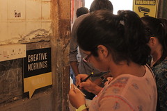 CreativeMornings with St+art Mumbai (CreativeMorningsMumbai) Tags: streetart murals talk artists mumbai daan botlek anpu creativemornings startindia
