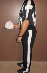 Authentic NFL officials short sleeve uniform with pink and white Referee NFL hat. (Football Officials Referee Uniforms) Tags: pink blue white man black game men jock up field grass hat leather yellow socks shirt fetish bag shoe back football belt clothing athletic referee official sock shoes uniform warm long day pants flat underwear head side low nfl think sunday under stripe super bowl bean line wear clothes compression briefs cap national short judge trousers shorts superbowl monday thursday sleeve turf whistle striped league penalty pinstripe pregame umpire reebok lanyard pinstriping officials linesman