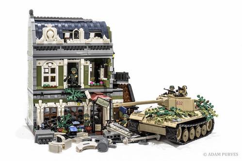 france building history tank lego military bricks wwii german ww2 panther worldwar cobi parisianrestaurant