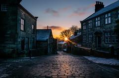 Dawn at Heptonstall (ScottSimPhotography) Tags: christmas uk bridge england english sunrise dawn town december britain yorkshire dramatic calm moors hebden dales heptonstall towngate calderdale dalesman