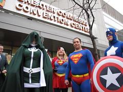 Jingle Bell Run 2014 041 (foodbyfax) Tags: cosplay superman supergirl rogue captainamerica heroesallianceohio jinglebellrun2014