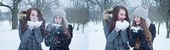 Bez nzvu-2 (buresovadenisa) Tags: winter girls snow cold girl smile hat friend friendship snowing brunette bff brownhair laught