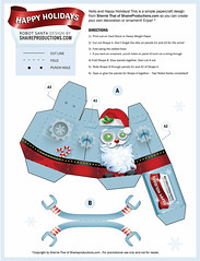 Robot Santa Papercraft Template (shaire productions) Tags: santa christmas xmas red holiday anime art illustration project paper fun toy happy robot 3d model origami artist character creative craft diagram figure animation cheer jolly template papercraft freedownload shaireproductions