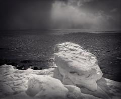 January Ice 3 (Joe Iannandrea) Tags: winter blackandwhite seascape mamiya ice monochrome mediumformat landscape photography fuji lakeerie january 120film neopan 6x7 analogphotography isf acros rb67 acros100 filmphotography forterie pyrocathd