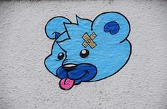 Shadee K (HBA_JIJO) Tags: bear blue urban streetart paris france pasteup animal collage painting paper wheatpaste ours shadeek