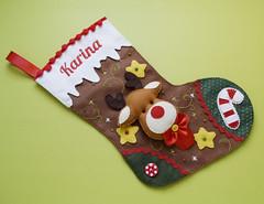 Botas de Natal (Meia Tigela flickr) Tags: christmas natal boots artesanato artesanal craft felt nome manual feltro decorao biscoito bordado bota personalizado alce pendurar gingergread